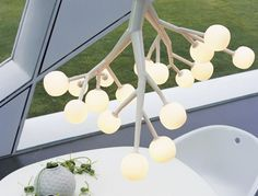 Akiko Branch Chandelier: This would be so cool for a baby to look up at from thier crib!