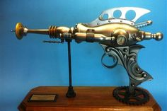 Gorgeous steampunk laser gun by Resinator Labs, which sells complete kits to build your own! SO COOL.