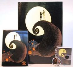 Jack Skellington & Sally diary, pad and keychain set