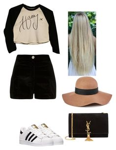 """""""harry girlfriend be like"""" by ayeitzryan ❤ liked on Polyvore featuring River Island, adidas, Yves Saint Laurent and Reiss"""
