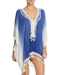 78049274259cf Surf Gypsy Ombré Lace-Up Tunic Swim Cover-Up Women - Bloomingdale s
