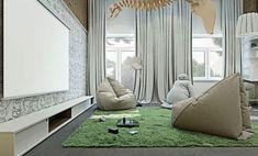fauteuils design pouf poire pour déco de salon