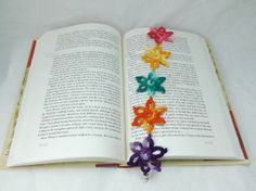 Tropical Flower Lei Inspired Crochet Bookmark