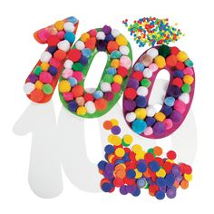 DIY Giant 100 Cutouts - Great 100th Day of School counting activity! - OrientalTrading.com
