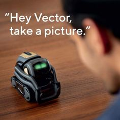 Alive with personality, the Vector Robot by Anki is no ordinary home robot! A companion made to hang out and help out, the Vector is . Technology Gadgets, Tech Gadgets, Cool Gadgets, Robot Vector, Advanced Robotics, Excited To See You, When You Come Home, Vector Can, Alexa Voice