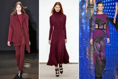 "8 New Color Trends Better Than Oxblood - Ruby: ""Midway between a plum and a red, this color looks best in large, bold swaths, either in a knee-length tea dress or a striking short suit."""