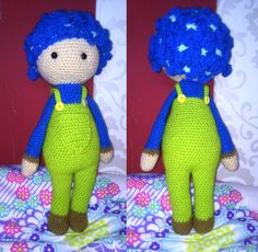 Hydrangea Hank flower doll made by Renata O - crochet pattern by Zabbez