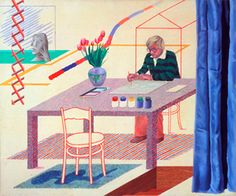 "David Hockney ""Self-Portrait With Blue Guitar"" 1977"