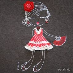 Ideas for applications on clothes Embroidery Fashion, Ribbon Embroidery, Cross Stitch Embroidery, Hand Applique, Applique Quilts, Applique Designs, Embroidery Designs, Swedish Weaving, Sewing Art