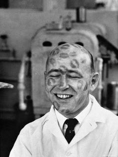 Lipstick Testing, 1950's.