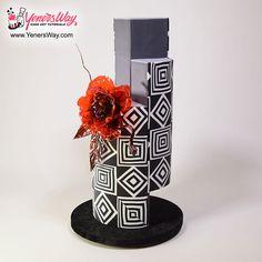 Modern Wedding Cake with Isomalt Flower by Serdar Yener | Yeners Way - Cake Art Tutorials