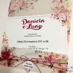 Convite Artesanal Rústico Floral Boho Chic - Envelope Vegetal