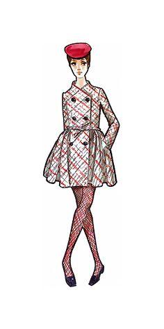 William Travilla - Costumes - Esquisses et Croquis - La Vallée des Poupées - 1967