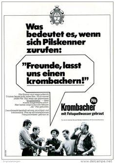Original-Werbung/ Anzeige 1969 - KROMBACHER BIER - ca. 180 x 240 mm