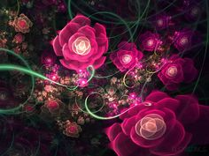 fractal art flowers - Google Search