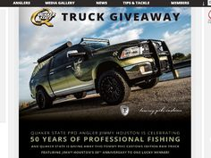 """Enter The """"Win the Quaker State Truck Customized by Tommy Pike Customs"""" FLW Member Sweepstakes for a chance to win a 2015 RAM 1500 Laramie Crew Cab Truck!"""