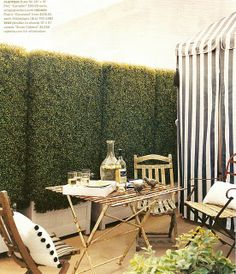 Plastic Boxwood Hedge. An Instant hedging solution made to look beautiful!