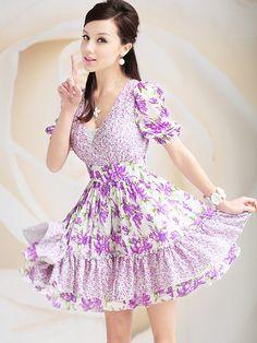 Morpheus Boutique  - Purple Floral V Neck Cap Sleeveless Hem Pleated Dress, $119.99 (http://www.morpheusboutique.com/purple-floral-v-neck-cap-sleeveless-hem-pleated-dress/)