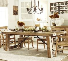 This is what I am going to build for my dining room!!! I have loved it for years!!! And I have real reclaimed barn wood from our farm in Illinois!!