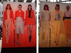 Defileden detaylar: Yeni sezonda cropped ceketler ve geniş kesim pantolonlar bir hayli trend olacağa benziyor :)