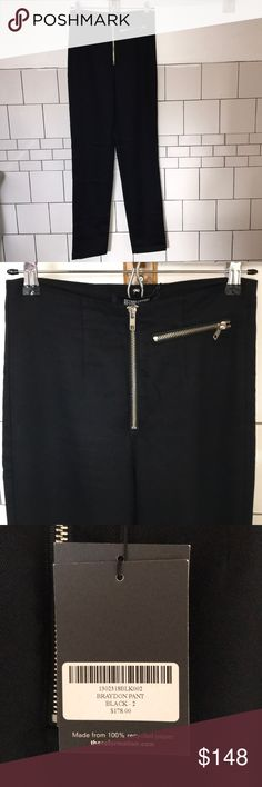 Reformation Braydon Pant Runs slightly large. Fits size 2 and 4.  Brand new with tags. Reformation Pants