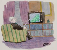 CHARLES ADDAMS - Attack of the Cable Box - item by fineart.ha