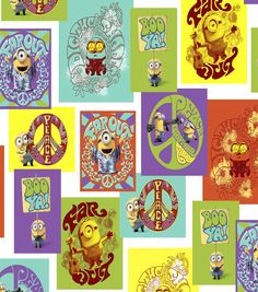 Minions Patch Cotton Fabric