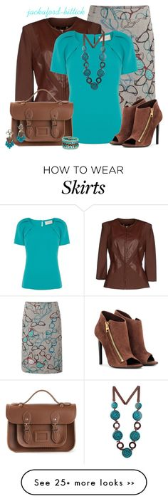 """""""Skirt and Blazer Contest2"""" by jackaford-bittick on Polyvore featuring White Stuff, Elisabetta Franchi, Almari, Tom Ford, The Cambridge Satchel Company, BaubleBar and Madison Parker"""
