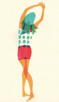 By Hazuki Miyahara. It's fascinating how flexibly shaped the body is—but the gestures and motions are very well-articulated. Love the pigeon-toe-y intersection of her knees. Character Illustration, Graphic Design Illustration, Graphic Art, Illustration Art, Luba Lukova, Retro, You Draw, Art Graphique, Brainstorm