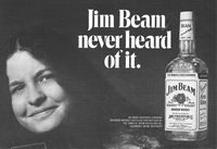 Jim Beam Rebecca Welles Moede 1971 Ad Picture