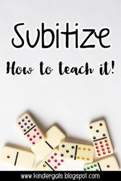 How to teach subtilizing and help students gain a better understanding of number sense and develop fluency.