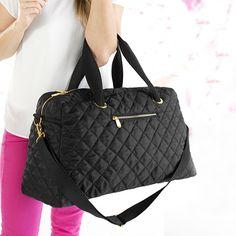 Black Quilted Weekender   Mixed Bag Designs