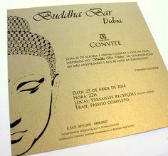 #convite #invitation #corporativo #bar #buddha #gold #dourado #paper #papel #chic #corporative