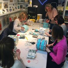 Lampshade making is fairly full on, and this was the first chance I got to photograph the workshop in action!