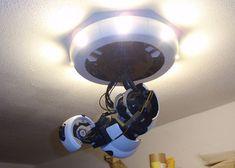 DIY 3-D Printed GlaDOS Robotic Arm Ceiling Lamp