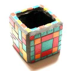 Boîte à crayons mosaïque