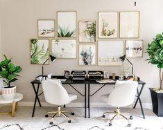 """2,254 Likes, 26 Comments - Inspired By This (@inspiredbythis) on Instagram: """"Our EIC's brand spanking new home office from @Wayfair & gallery wall from @Minted is…"""""""