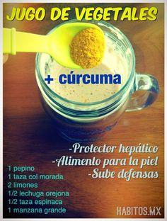 Jugo de vegetales + cúrcuma #habitosmx #hábitos #salud #health