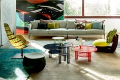 Net tables by Moroso #design #table #color http://www.malfattistore.it/?product=net