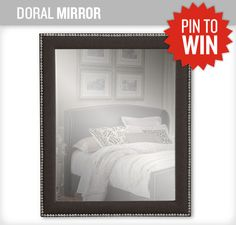 A matching mirror with the trendy nailhead bedroom! #NewASF #PinItToWinIt