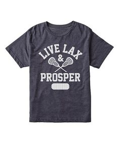 This Heather Blue 'Live Lax and Prosper' Tee - Toddler & Kids is perfect! #zulilyfinds