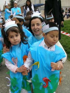 Carnival Crafts, Carnival Costumes, Diy Costumes, Halloween Costumes, Animal Activities, Montessori Activities, Activities For Kids, Diy Disfraces, Sea Costume