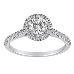 14k White Gold 1.00 cttw Bridal Ring, Size 7.  List Price: $4,059.00  Savings: $2,289.01 (56%)