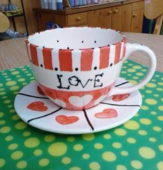 Cup And Saucer Painted By Customer