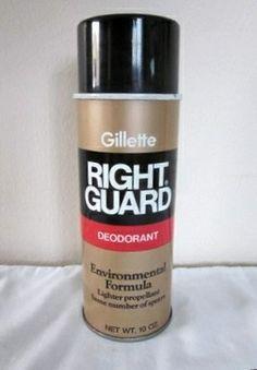 Gillette Right Guard Deodorant - 1970s spray can