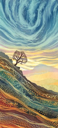 On the edge landscape quilts, abstract landscape, landscape paintings, abst Landscape Quilts, Abstract Landscape, Landscape Paintings, Abstract Art, Landscapes, Paintings Of Nature, Artwork Paintings, Spiritual Paintings, Nature Artwork