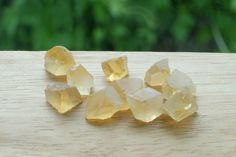 Special Price High Quality Yellow Citrine 49.65 CT 10 pcs Facet Rough Clear Crystal Natural #JV125 by JEWVARY on Etsy