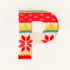 sweater letter embroidered typeface by maricormaricar