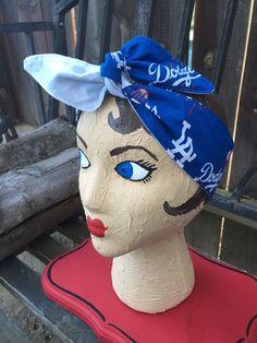 LA Dodgers dolly bow bandana