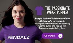Go Purple for Alzheimer's & Brain Awareness Month! www.alz.org/abam